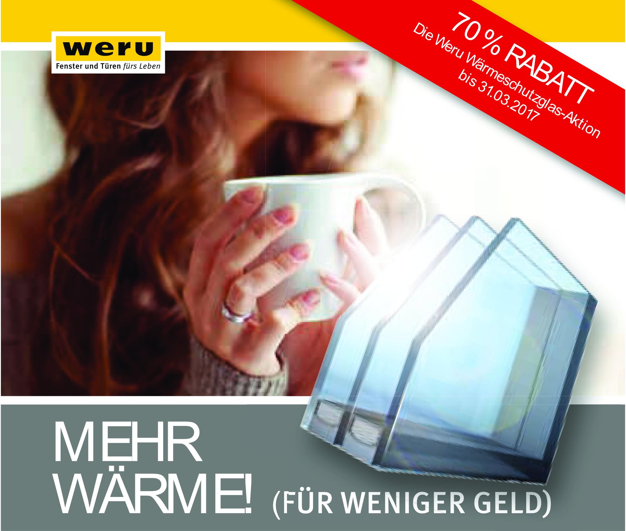 WERU Angebot Wärmeschutzglas